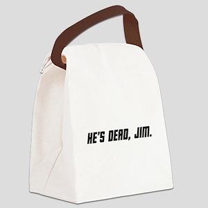 deadjim_bk Canvas Lunch Bag