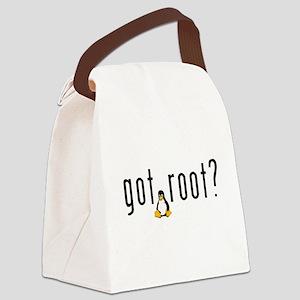 Emperor Penguin Canvas Lunch Bag