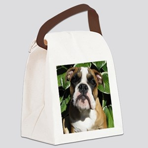 Bulldog Pup Canvas Lunch Bag
