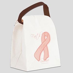 Peach Ribbon Canvas Lunch Bag