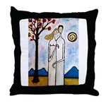 In the beginning, Throw Pillow