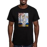 In the beginning, Men's Fitted T-Shirt (dark)