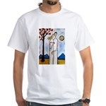 In the beginning, White T-Shirt