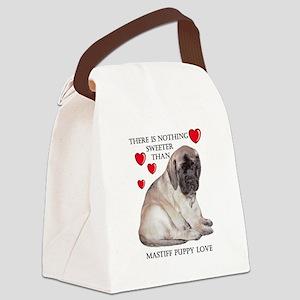 Mastiff Fawn Puppy Love Canvas Lunch Bag