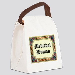 Modern Medieval Woman Canvas Lunch Bag