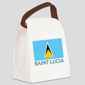 Flag of Saint Lucia Canvas Lunch Bag