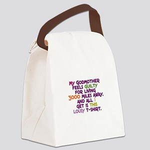 My Godmother Feels Guilty Canvas Lunch Bag