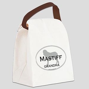 Mastiff GRANDMA Canvas Lunch Bag