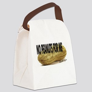 No Peanuts For Me Canvas Lunch Bag