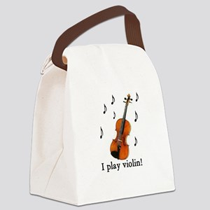 I play violin! Canvas Lunch Bag
