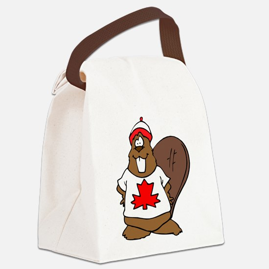 Canadian Beaver Canvas Lunch Bag