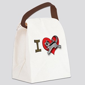 I heart sugar gliders Canvas Lunch Bag