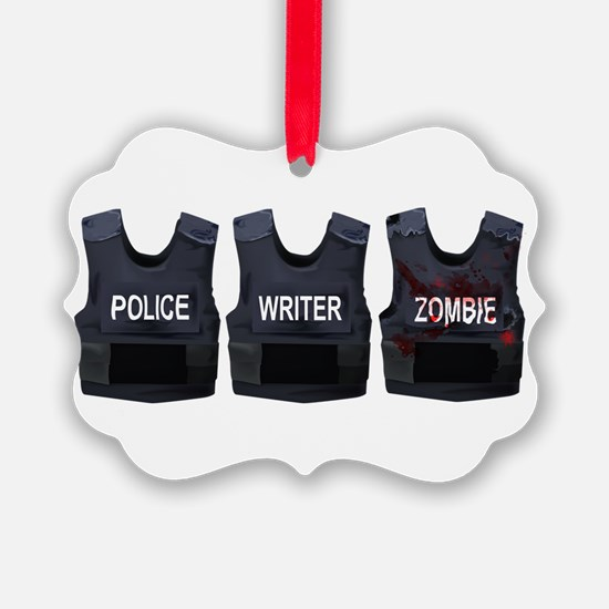 Police, writer, zombie Ornament