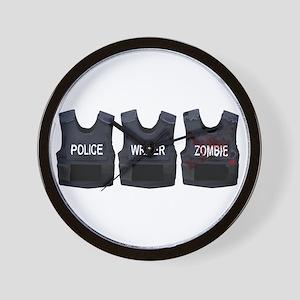 Police, writer, zombie Wall Clock