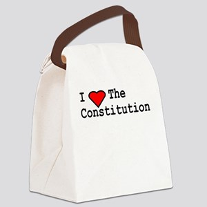 I Love the Constitution Canvas Lunch Bag