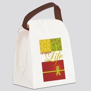 Celebrate Life Holiday Collection Canvas Lunch Bag