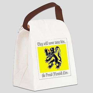 Proud Flemish Lion Canvas Lunch Bag