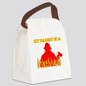 MY DADDY IS A FIREMAN SHIRT B Canvas Lunch Bag