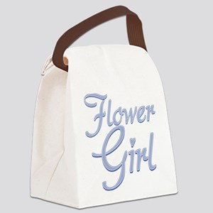 Amore Flower Girl Blue Canvas Lunch Bag