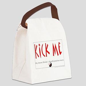 Kick Me: Sensei: Frontside Canvas Lunch Bag