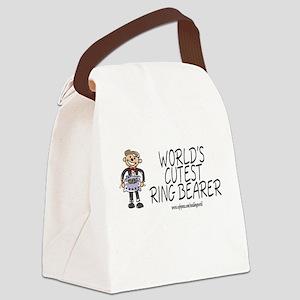 World's Cutest Ringbearer Canvas Lunch Bag