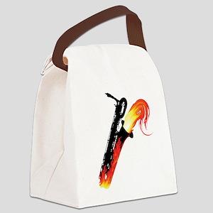 Hot Baritone Sax Canvas Lunch Bag