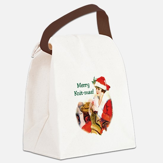 Merry Knit-mas Canvas Lunch Bag