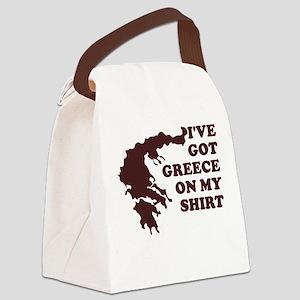 I'VE GOT GREECE ON MY SHIRT T Canvas Lunch Bag