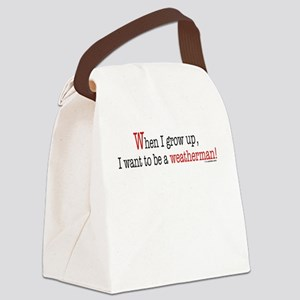 ... a weatherman Canvas Lunch Bag