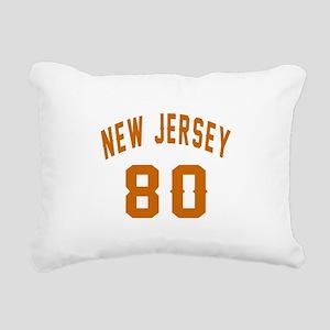New Jersey 80 Birthday D Rectangular Canvas Pillow