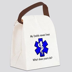 My Daddy saves lives Canvas Lunch Bag