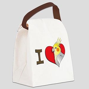 I heart cockatiels Canvas Lunch Bag