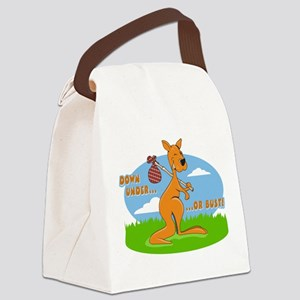 Down Under or Bust Canvas Lunch Bag