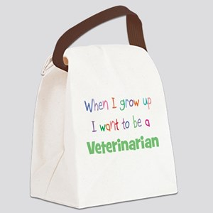 When I Grow Up Veterinarian Canvas Lunch Bag