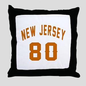 New Jersey 80 Birthday Designs Throw Pillow