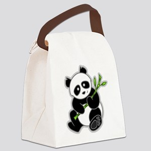 Sitting Panda Bear Canvas Lunch Bag