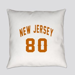 New Jersey 80 Birthday Designs Everyday Pillow