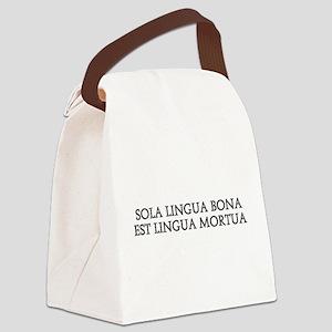 SOLA LINGUA BONA Canvas Lunch Bag