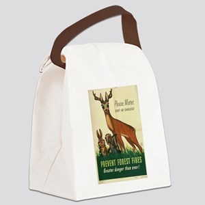 1943 Prevent Forest Fires Poster Canvas Lunch Bag