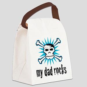 My Dad Rocks Canvas Lunch Bag