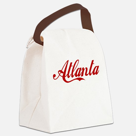 ATLANTA SCRIPT Canvas Lunch Bag
