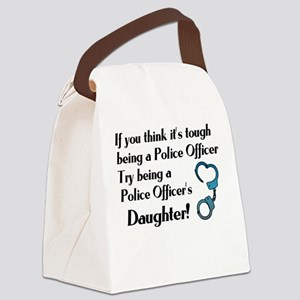 Tough Police Daughter Canvas Lunch Bag