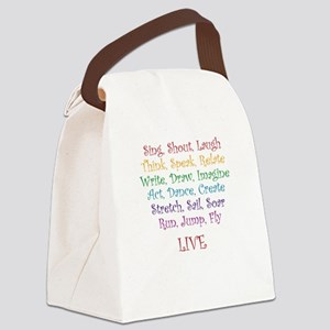 Live ! Canvas Lunch Bag