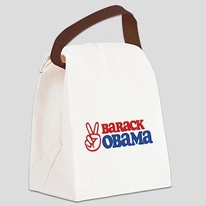Barack Obama for Peace Canvas Lunch Bag