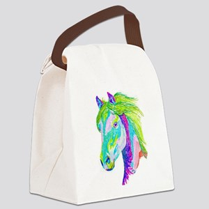 Rainbow Pony Canvas Lunch Bag