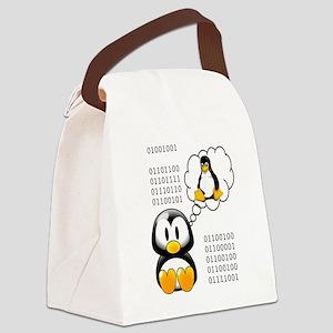 """I love daddy"" binary Canvas Lunch Bag"