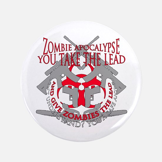 "Zombie apocalypse 3.5"" Button"