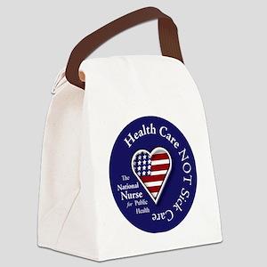 NN Patriotic Heart Canvas Lunch Bag