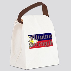 Filipino Strength/Flag Canvas Lunch Bag