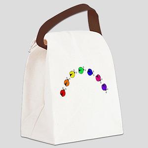 Ladybug Rainbow Canvas Lunch Bag